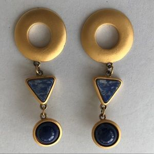 Express Gold and Blue Earring